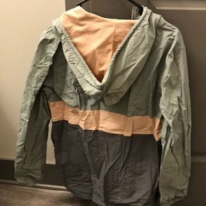 Urban Outfitters Jackets & Coats - Urban Outfitters gray & pink rain jacket pullover